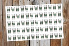 Starbucks Coffee Planner Sticker. Perfect for by GraceDesignsStore