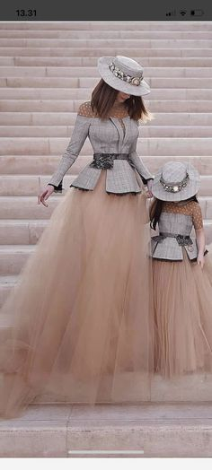 Cute outfit for mother and daughter Girls Dresses, Formal Dresses, Wedding Dresses, Robes Tutu, Mother Daughter Fashion, Girl Outfits, Cute Outfits, Kids Fashion, Womens Fashion