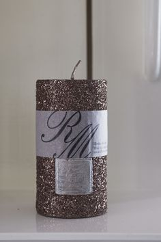 Bronze Sparkle Candle 13x7