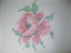 kruissteek roos