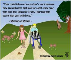 Quote and image from Warrior on Wheels