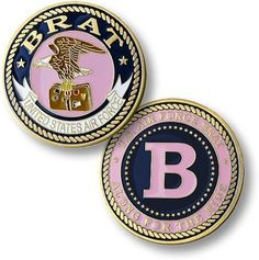 """Navy's youngest recruits, Navy """"Brats"""" are initiated at birth into the proud tradition of the world's most elite maritime force.Committed to sharing Military Brat, Military Love, Air Force Medals, Coin Collecting Books, Air Force Girlfriend, Military Challenge Coins, Pink Backdrop, New Uses, Girl Online"""