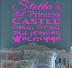 Stella's Lil Princess Castle Family Friends by StellasVinylWallArt, $37.00