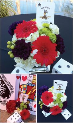 Casino Night Party Decor: Giant Playing Cards & Painted Box Dice @Jami Beintema Beintema Macaluso