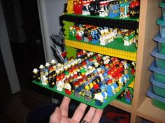 Organize your lego men! SO cool! #lego