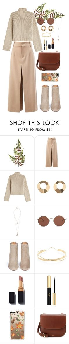 """street style #86"" by veronicagnzlz ❤ liked on Polyvore featuring Abigail Ahern, Chloé, Rosetta Getty, MANGO, GUESS, The Row, Aquazzura, Lana Jewelry, Yves Saint Laurent and Casetify"
