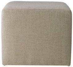 Custom Fletcher Upholstered Ottoman - Furniture - Living Room - Ottomans - Seating - Benches | HomeDecorators.com