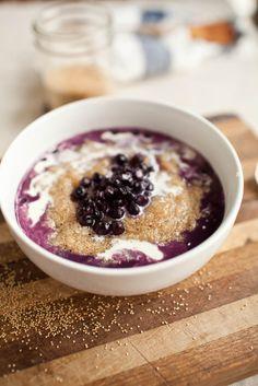 Blueberry Amaranth Porridge a week of vegetarian meals