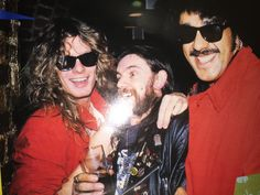 John Sykes, Lemmy, Phil Lynott. Feb.1985