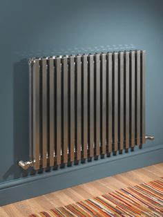 MHS Nubis Height Double Brushed Designer Radiator can be purchased at discounted rate. Manufacturing code of this radiator is NDB 03 1 Optional sizes of 810 and available. Living Room Interior, Home Interior Design, Kitchen Radiator, Home Heating Systems, Shower Taps, Designer Radiator, Radiant Heat, Hallway Decorating, Building Materials