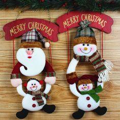 Cheap Paño colgante de accesorios de las decoraciones de Navidad de Santa Claus…