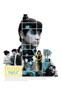 500 Days of Summer - Mosaic Poster Art Print by Mike Sapienza - X-Small Event Poster Design, Graphic Design Posters, Graphic Design Illustration, Graphic Design Inspiration, Poster Designs, 500 Dias Con Summer, 500 Days Of Summer, Cristiana Couceiro, Expendables