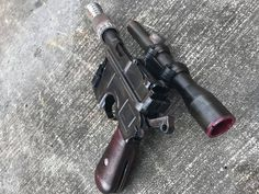 Han Solo's blaster DL-44 from Star Wars printed by Justin Long‎