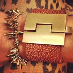 Arm Candy: Made in Texas LeighElena cuff with Stella & Dot Renegade bracelet.