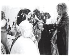 1986 - Jennifer Connelly as Sarah and David Bowie as Jareth in Labyrinth film.