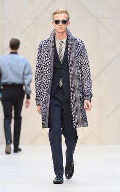 Borrow this men's tie & overcoat The Burberry Prorsum Spring/Summer 2013 show