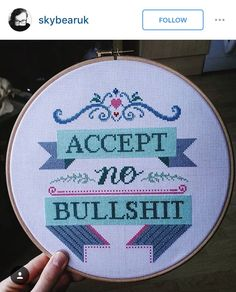 No bullshit cross stitch