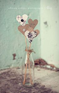 Vintage Valentine on a Stick