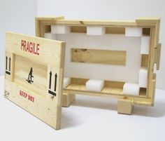 Crating + Display — Art Crating, Inc. Moving Crates, Custom Crates, Insulation Board, Metal Shelves, Types Of Wood, Packaging Design, Custom Design, Packing, Woodworking