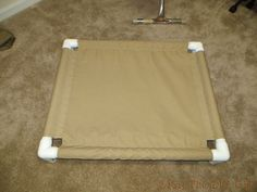 pvc dog cot tutorial, diy, how to, pets animals, repurposing upcycling Dog Beds For Small Dogs, Large Dogs, Pvc Dog Bed, Doggie Beds, Doggies, Diy Dog Gate, Toddler Cot, Dog Cots, Bug Off