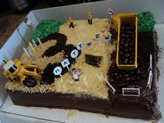 Construction Site cake for Matthew's 3rd Birthday