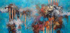 José Luis Vilca Montalvo. Acte Gratuit N°2. Óleo/tela, díptico, 65 x 135 cm. $25,000 M.N.
