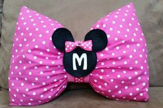 Minnie Mouse Bow Stuffed Pillow 13 X 10 by on Etsy Minnie Mouse Bow, Pink Minnie, Little Girl Rooms, Little Girls, Sewing Crafts, Sewing Projects, Bow Pillows, Disney Crafts, Bows