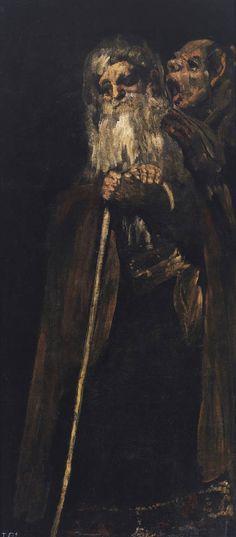 """Goya en el Prado: """"Dos frailes"""" (Pinturas negras)"""