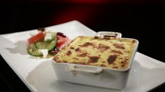 Helena and Vikki's Baked Moussaka with Greek Salad: http://gustotv.com/recipes/lunch/baked-moussaka-greek-salad/