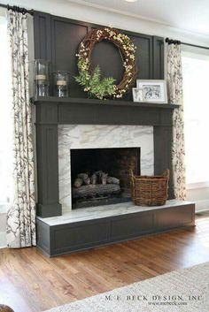 Modern Wood Fireplace Mantel Decor ~  Http://lanewstalk.com/best Fireplace Mantel Decor/ | Best Fireplace Mantel  Décor | Pinterest