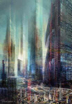future, futuristic city by Ferdinand Ladera