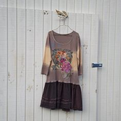 eco dress / jersey knit  / funky upcycled clothing / by CreoleSha, $67.99