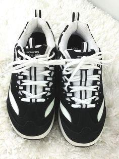 021bd6860958 Skechers Shape Ups Womens Black White Walking Fitness Shoes 11809 Size 6.5