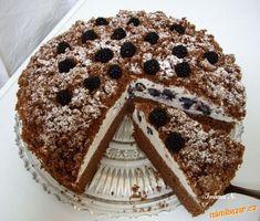 Čokoládový dort s ostružinami Chocolate Cake, Tiramisu, Food And Drink, Ethnic Recipes, Sweet, Drinking, Chicolate Cake, Candy, Chocolate Cobbler
