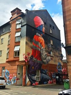 """by Fintan Magee - New mural """"The Model Boat"""" - For the Recoat 'In Common' project commissioned by Glasgow 2014 for Festival 2014 (during the Commonwealth Games) - Glasgow, Scotland - July 2014"""