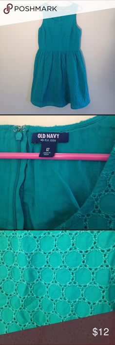Teal Sleeveless Dress from Old Navy Teal sleeveless dress from Old Navy  with back zipper and 272363712766