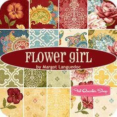 Flower Girl Yardage Margot Languedoc for Henry Glass Fabrics - Fat Quarter Shop