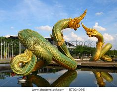 The Naga is a widely used symbol in Thailand. It's a type of dragon