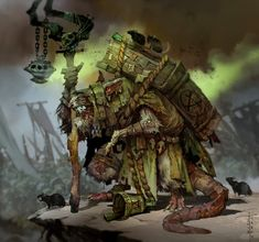ArtStation - Lord Skrolk, Plaguelord of Clan Pestilens, Svetoslav Petrov