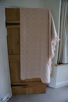 Raspberry Ripple pink and white Welsh tapestry blanket