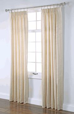 Stylemaster Home Products Renaissance Home Fashion Pinch Pleated Foam Back Drape Pair, 48 by Cream