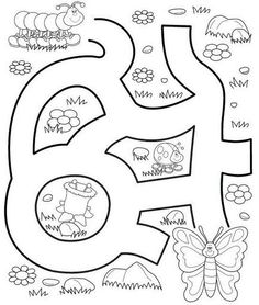 Crafts,Actvities and Worksheets for Preschool,Toddler and Kindergarten.Free printables and activity pages for free.Lots of worksheets and coloring pages. Preschool Education, Preschool Learning Activities, Kindergarten Worksheets, Worksheets For Kids, Infant Activities, Book Activities, Kids Learning, Maze Worksheet, Mazes For Kids