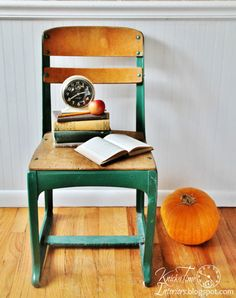Urban Vintage School Chair  - Perfect for a Photo Prop! by KnickofTime.net