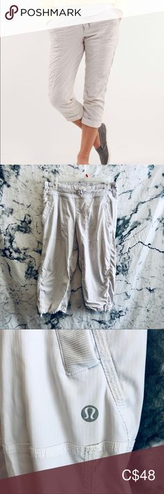 Shop Women's lululemon athletica Silver size 8 Capris at a discounted price at Poshmark. Description: Off white, almost grey color. Lululemon Athletica, Plus Fashion, Fashion Tips, Fashion Trends, Off White, White Shorts, Gray Color, Pants For Women, Studio