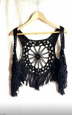 Katia Ribeiro Moda e Decoração Handmade: Colete em Crochê Com Gráfico