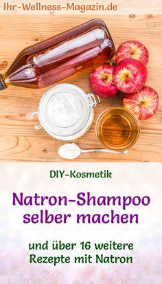 DIY-Rezept für basische Körperpflege mit Natron: Haare waschen mit Natron - Natron-Shampoo selber machen - gesunde Haarpflege garantiert ohne Silikone ... #diykosmetik