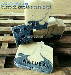 Retro soap, a natural soap with shea butter and beeswax! Essential oils of lemon and cedro fruit, very masculine! #soap #diy #soap_color #soap_CP #soap_swirl #shea butter