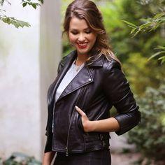 Blouson zippé en cuir ENJOYPHOENIX POUR LA REDOUTE Blouson Cuir Femme,  Doudoune Femme, Manteau 15c6338fdc1