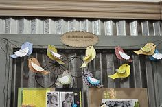 Birdie garland, by Jillibean Soup (maker of scrapbooking papers & embellishments)