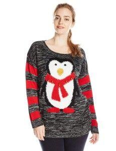 Women's Pullover Sweaters - Derek Heart Juniors PlusSize Nerdy ...